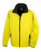 YELLOW WITH BLACK RESULT SOFT-SHELL JACKET